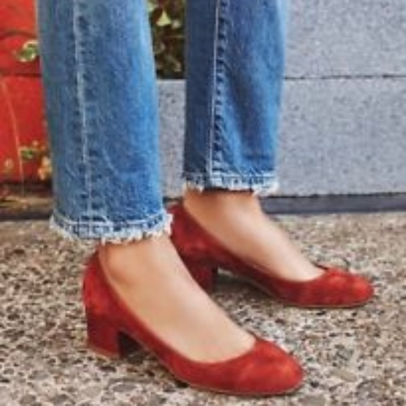 a699ff568af Jeffrey Campbell Shoes - Jeffrey Campbell Bitsie Heel in Red Suede